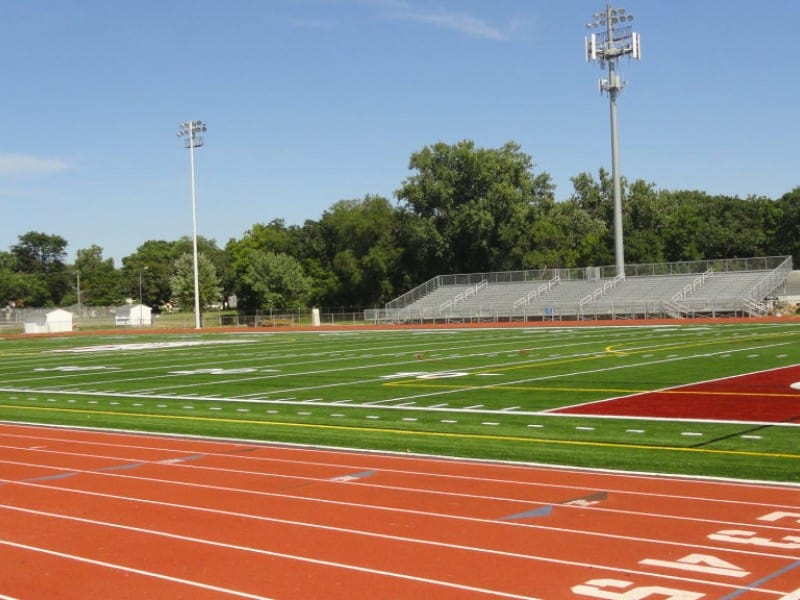Artificial turf soccer field at Richfield High School Stadium
