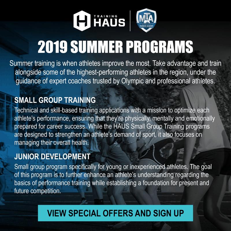 Training Haus summer 2019 - Minnesota Thunder Academy